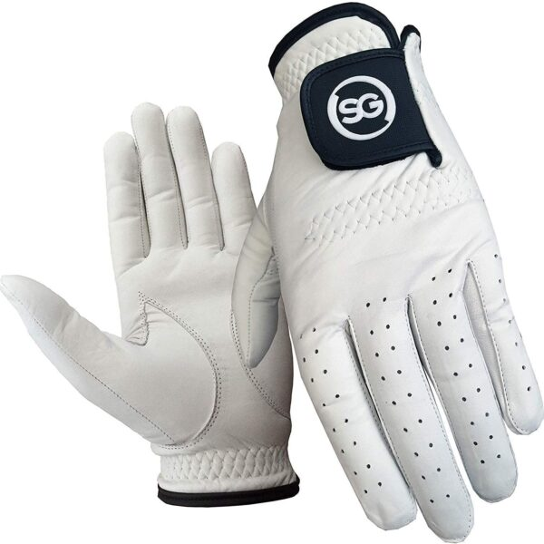 Pack of 5 Men White Cabretta Leather Golf Gloves Regular and Cadet Sizes