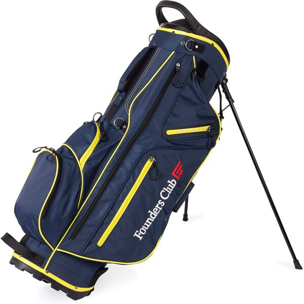 Founders Club Golf Stand Bag for Walking Carrying 14 Way Organizer Top Shaft Lock