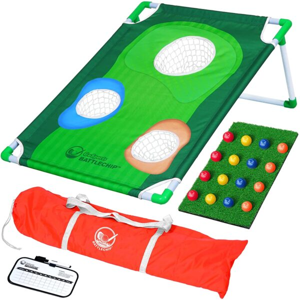 GoSports BattleChip Backyard Golf Cornhole Game - Fun New Golf Game for All Ages & Abilities