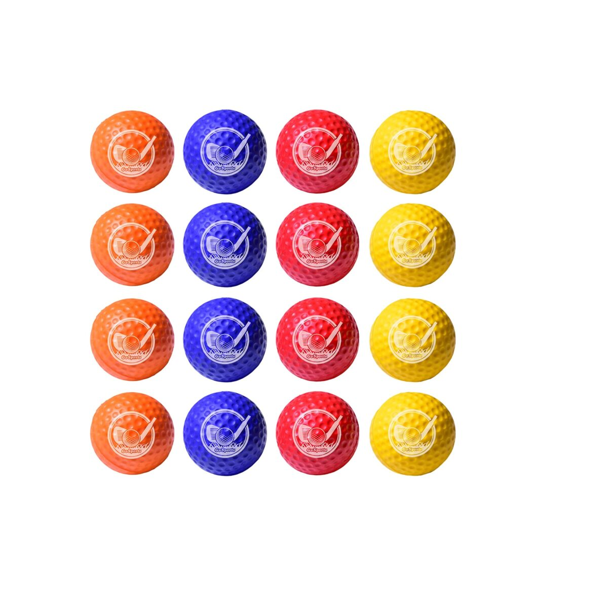 GoSports Foam Golf Practice Balls - Realistic Feel and Limited Flight - Soft for Indoor or Outdoor Training - Choose Between 16 Pack or 64 Pack